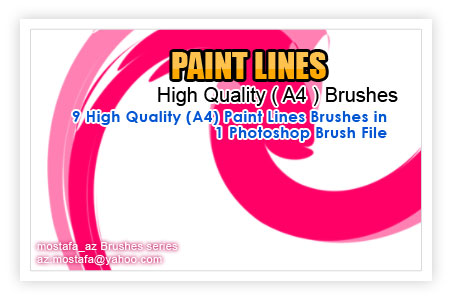 9 Paint Lines Brushes